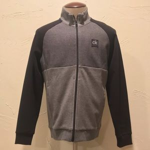 Calvin Klein Men Medium Gray & Black Zip Up Jacket